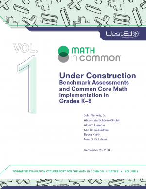 Cover image for Under Construction: Benchmark Assessments and Common Core Math Implementation in Grades K–8