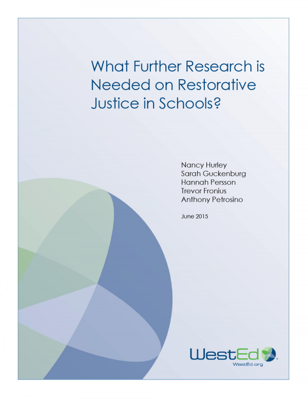 Cover image for What Further Research is Needed on Restorative Justice in Schools?
